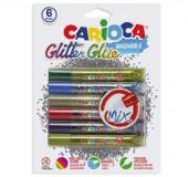 6 Colas Gliter Glue Mix Carioca