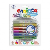 6 Colas Gliter Glue Spark Carioca