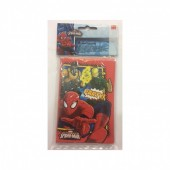 6 Convites de Aniversario Spiderman