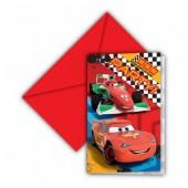6 Convites Disney Cars RSN