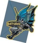 6 convites festa Batman