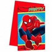 6 Convites festa Spiderman