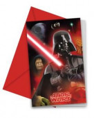 6 convites festa Star Wars