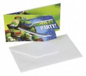 6 Convites Festa Tartarugas Ninja