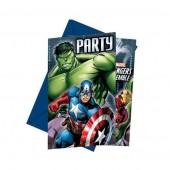 6 Convites festa Vingadores