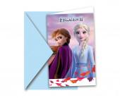 6 Convites Frozen 2 Disney