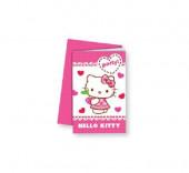 6 Convites Hello Kitty