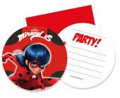 6 Convites Ladybug Party