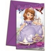 6 Convites Princesa Sofia