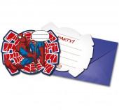 6 Convites Spiderman Power