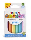 6 Cores Plasticina Pastel Carioca Plasty