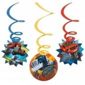 6 Espirais Decorativas Blaze and the Monster Machines