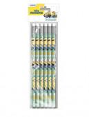 6 Lápis com Borracha Minions