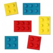 6 Mini Toppers Açúcar Blocos Legos 2.3cm