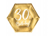 6 Pratos 30th Birthday 20cm