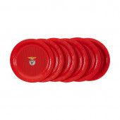 6 Pratos Papel Benfica 22cm