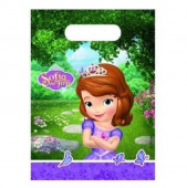 6 sacos brinde festa Princesa Sofia