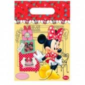 6 sacos de festa Minnie Disney Cafe