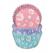 75 Cápsulas Cupcakes Sereias
