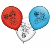 8 Balões Patrulha Pata 28cm