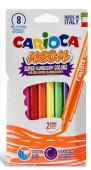 8 Canetas Feltro Carioca Neon