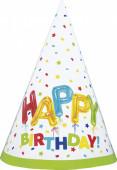 8 Chapéus Festa Happy Balloon Birthday