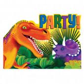 8 Convites Festa Dinossauros Pré Histórico