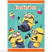 8 Convites Minions