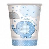 8 Copos Baby Shower Azul