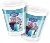 8 Copos festa Frozen blue