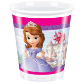 8 Copos Festa Princesa Sofia