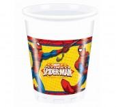 8 Copos Festa Spiderman Thwip