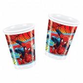 8 Copos Festa Spiderman
