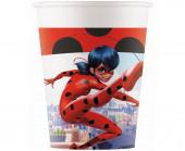 8 Copos Papel Festa Ladybug