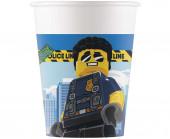 8 Copos Papel Festa Lego City