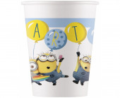 8 Copos Papel Festa Minions Party