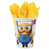 8 Copos Papel Minions Party Time 250ml