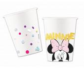 8 Copos Papel Minnie Party Gem