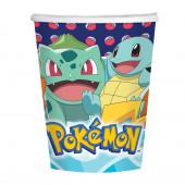 8 Copos Papel Pokémon