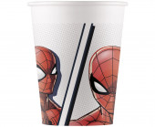 8 Copos Papel Spiderman Superhero