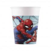 8 Copos Papel Spiderman Team Up