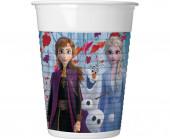 8 Copos Plástico Frozen 2