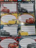 8 Etiquetas Autocolantes Cars 3
