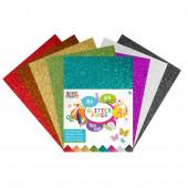 8 Folhas Glitter Coloridas A4 150 Grs