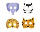 8 Máscaras Animais Selva