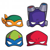 8 Máscaras Festa Tartarugas Ninja TMNT