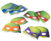 8 Máscaras Tartarugas Ninja