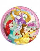 8 pratos 23cm Festa Princesas Disney - Heart Strong
