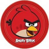 8 Pratos Angry Birds 23 cm
