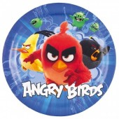 8 Pratos Angry Birds Movie 18cm